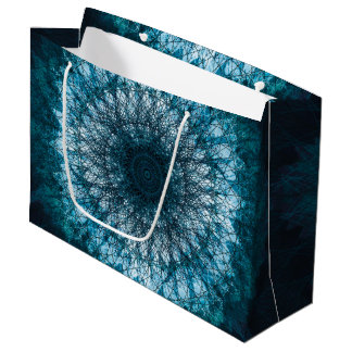 Indigo Blue Mandala Large Gift Bag