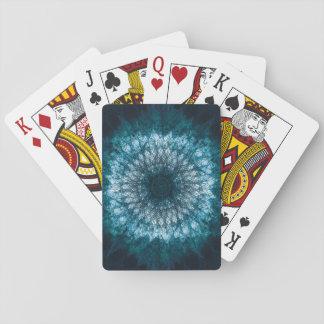 Indigo Blue Mandala Playing Cards