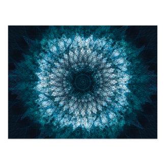 Indigo Blue Mandala Postcard