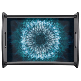 Indigo Blue Mandala Serving Tray