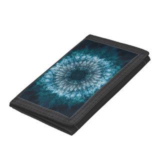 Indigo Blue Mandala Trifold Wallet
