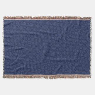 Indigo Blue Medallion Throw Blanket