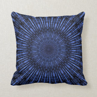 Indigo Blue Medallion Throw Pillow