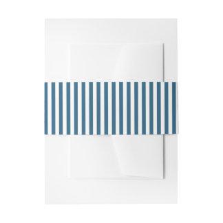 Indigo Blue Stripes | Wedding Invitation Belly Band