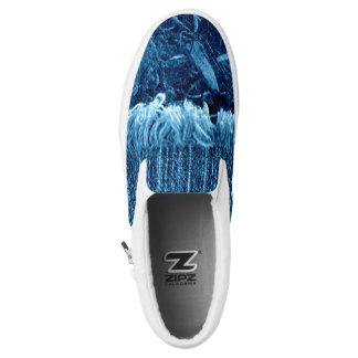 Indigo Blue Unisex Artist Designed Sneakers