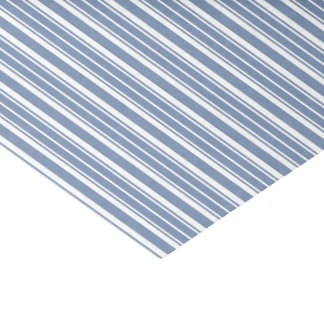 Indigo Blue White Ticking Stripes Tissue Paper