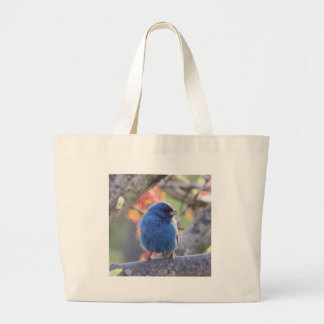 Indigo Bunting Large Tote Bag