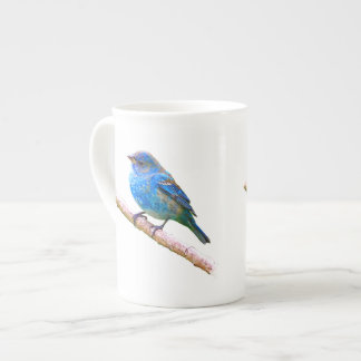 Indigo Bunting on Branch Design Tea Cup