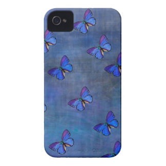 INDIGO BUTTERFLY PATTERN iPhone 4 COVER