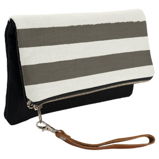 Indigo designers clutch with Stripes