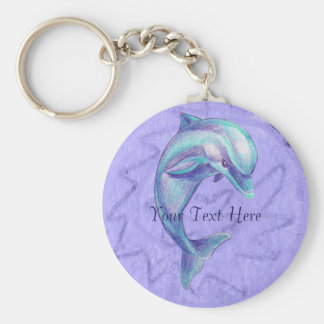 Indigo Dolphin Keychain