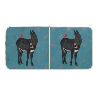 INDIGO DONKEY & CARDINAL PONG TABLE