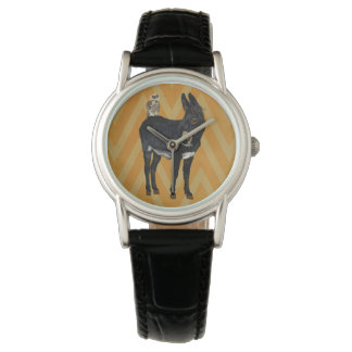 INDIGO DONKEY & OWL Watch