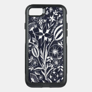 Indigo Floral bouquet OtterBox Commuter iPhone 8/7 Case