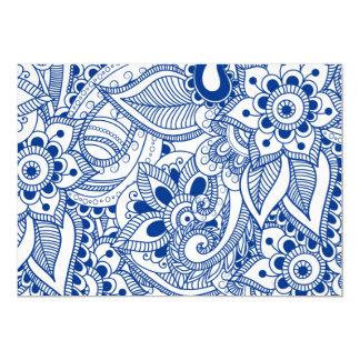 Indigo Floral Pattern - Note Cards