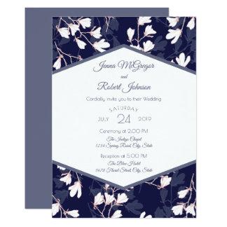 Indigo Floral Wedding Invitation