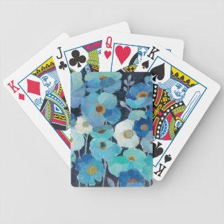 Indigo Flowers Bicycle Playing Cards
