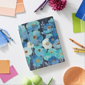 Indigo Flowers iPad Cover
