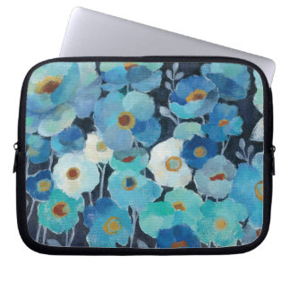 Indigo Flowers Laptop Sleeve