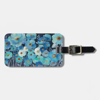 Indigo Flowers Luggage Tag