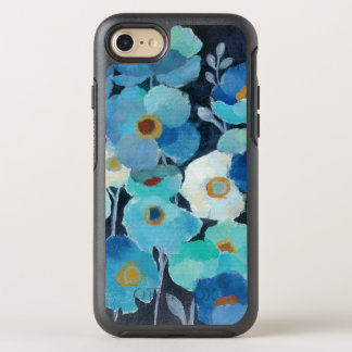 Indigo Flowers OtterBox Symmetry iPhone 7 Case