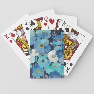 Indigo Flowers Playing Cards