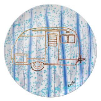 Indigo forest camper plate