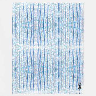 Indigo forest fleece blanket