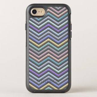 Indigo Gradient Chevron Pattern Phone Case