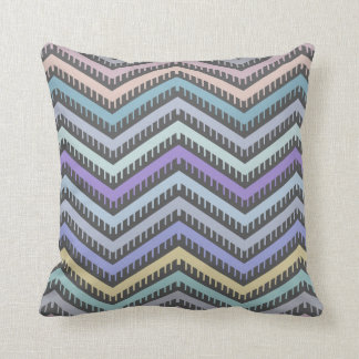 Indigo Gradient & Color Chevron Pattern Pillow
