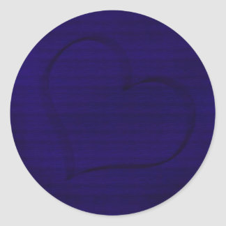 Indigo Heart Round Sticker