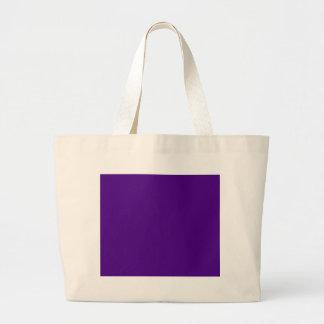 Indigo hex code 4B0082 Large Tote Bag