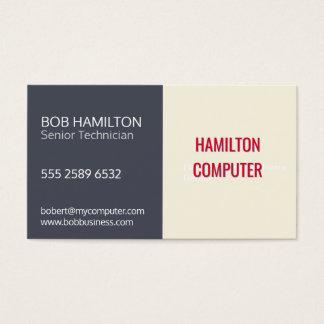 Indigo Ivory Computer Service Repair Technician Business Card