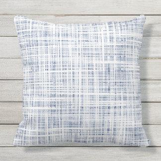 Indigo Lines Outdoor Pillow