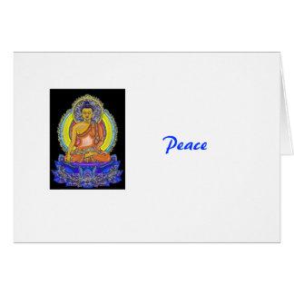 Indigo Lotus Buddha Card