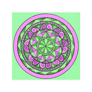 Indigo Mandala Canvas Print