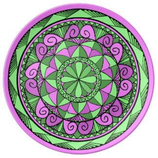 Indigo Mandala Plate