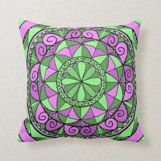 Indigo Mandala Throw Pillow