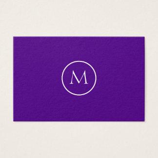 Indigo Minimalist Monogrammed Elegant Business Card