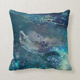 Indigo Mystique Underwater Mermaid Throw Pillow