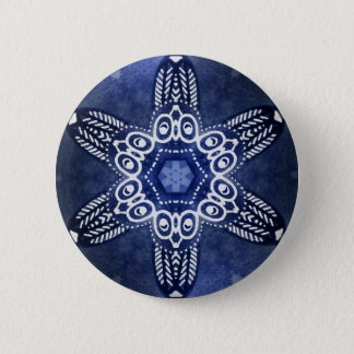 Indigo owls 2 inch round button