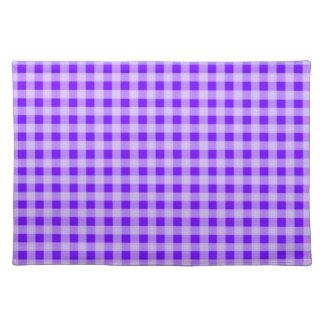 Indigo, Purple Gingham Placemat