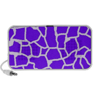 Indigo, Purple Giraffe Animal Print Notebook Speakers