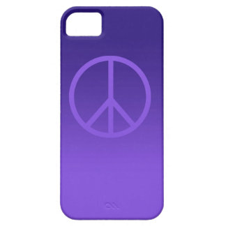 Indigo Purple Peace Sign iPhone 5 Cover