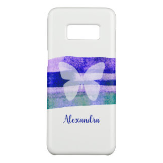 Indigo Purple Watercolor Butterfly Personalized Case-Mate Samsung Galaxy S8 Case