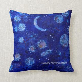 Indigo reach for the stars! throw pillow