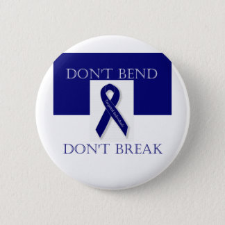 Indigo Ribbon- Don't Bend. Don't Break. DBI 2 Inch Round Button