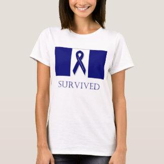 Indigo Ribbon- I Survived. DBI T-Shirt
