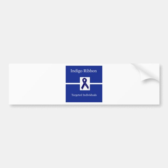 Indigo Ribbon  In Celebration Bumper Sticker