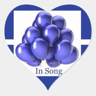 Indigo Ribbon -In Song Heart Sticker